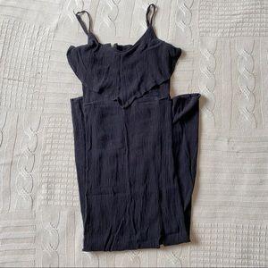 ☄️Mudd Black Dress Strappy Textured Corduroy Sz S